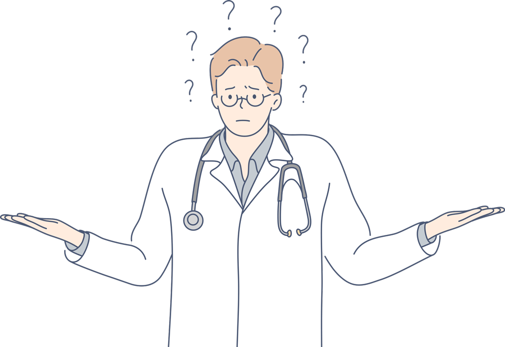 Animated frustrated doctor